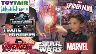 STAR WARS, TRANSFORMERS, AVENGERS, JURASSIC WORLD, SPIDER-MAN @ NY Toy Fair 2015