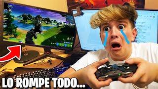 Le hago STREAM SNIPING a mi HERMANO PEQUEÑO y me ROMPE la PS4...