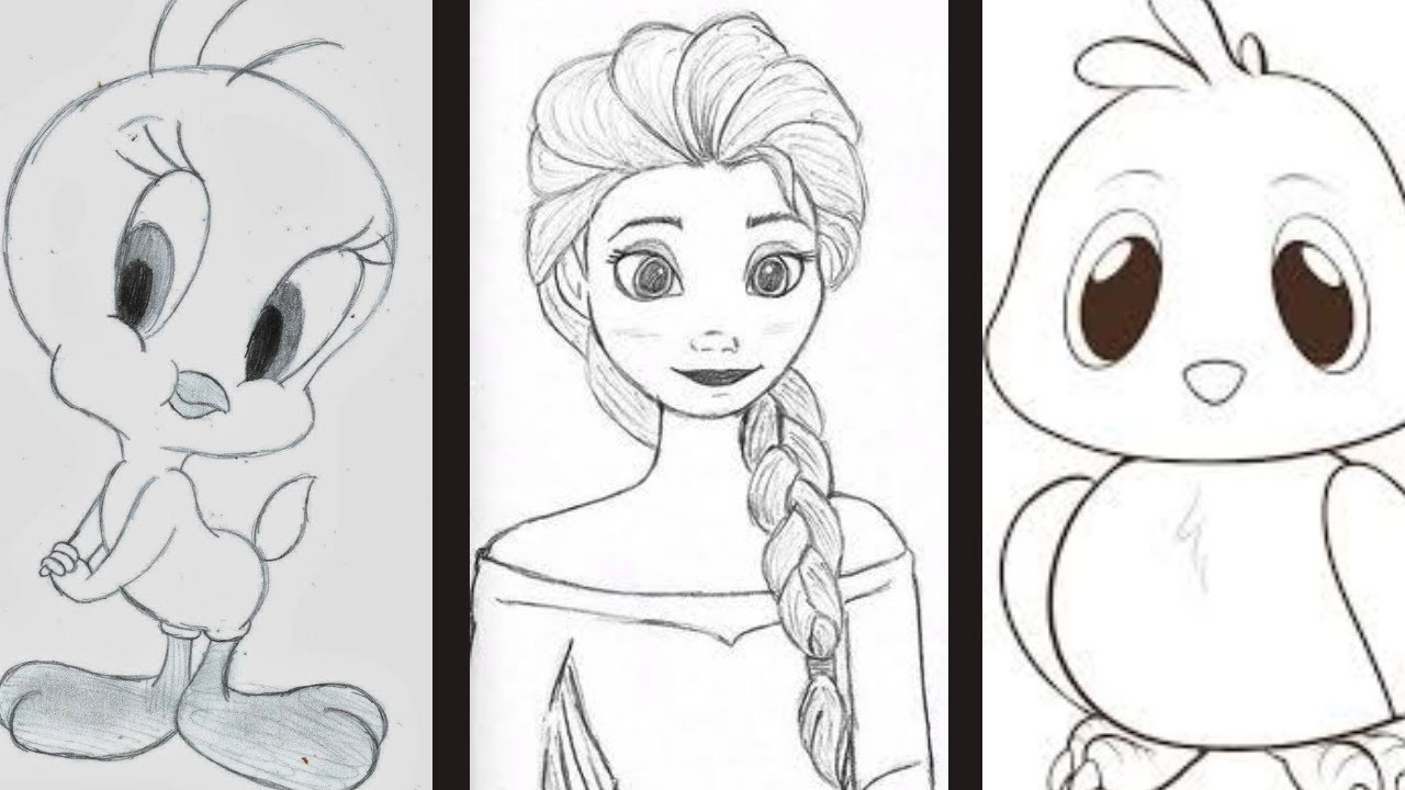 Easy Pencil Drawings For Kids/ Cartoon Drawing Step by ...
