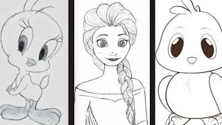easy cartoon drawing drawings pencil draw characters step