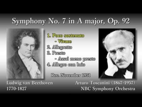 Beethoven: Symphony No. 7, Toscanini & NBCso (1951) ベートーヴェン 交響曲第7番 トスカニーニ