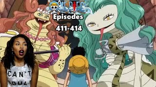 LUFFY VS THE GORGON SISTERS | ONE PIECE EPISODES 411, 412, 413, 414 REACTION