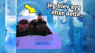 OVERNATTER PÅ VERDENS KOLDESTE HOTEL (Lavet af is)