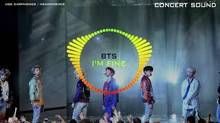 Download Lagu 🔈CONCERT SOUND🔈 BTS - I'm Fine mp3