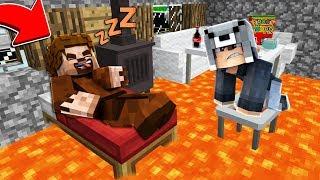FAKİR UYURKEN EVİNE LAV DOLDURDUM! 😱 - Minecraft