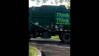 Waste Management Front load dumping 3yd