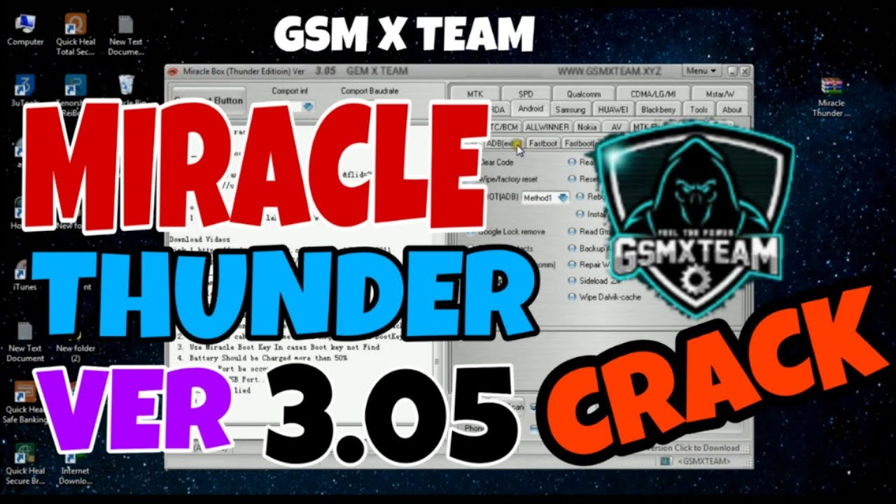 Miracle thunder ver 3.05 Crack gsm x team  2020