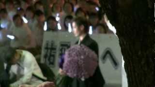 2012年7月1日 東京宝塚劇場宙組千秋楽、大空祐飛さんの出待ちです。