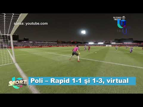 Poli - Rapid 1-1 și 1-3, virtual