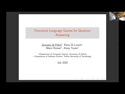 Giovanni de Felice: Functorial Language Games for Question Answering