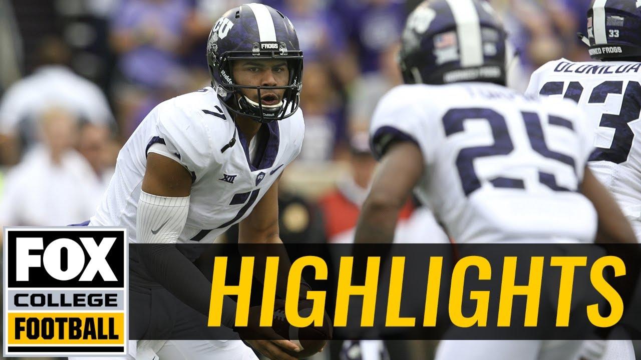 TCU vs Kansas State | Highlights | FOX COLLEGE FOOTBALL - YouTube