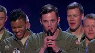 US Military A-Capella Group CRAZY Discipline WOW! America's Got Talent 2017
