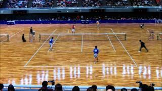全日本インドアソフトテニス2012 準決勝 船水(雄)九島ー篠原小林