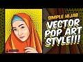 HIJAB VECTOR POP ART STYLE