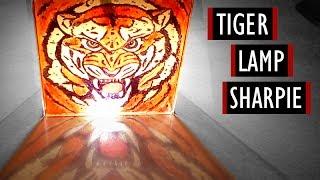 How To Do Tiger Lamp - Sharpie #3 [Kocham Rysować]