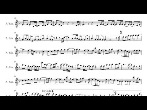 Hello  Adele  Sheet Music  Alto Sax