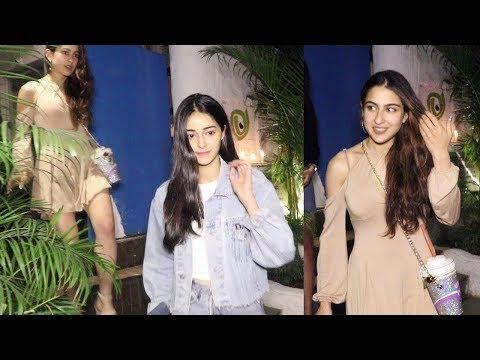 Ananya Pandey & Sara Ali Khan dine out together in Mumbai Mp3