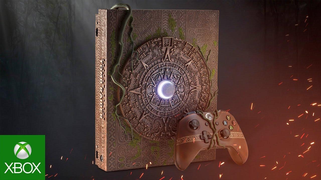 Microsoft показала Xbox One X в дизайне Shadow of the Tomb Raider. И она великолепна (видео)