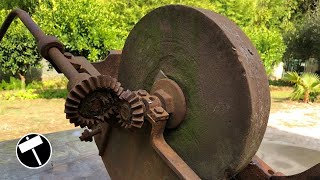 Antique and Rusty Grindstone Restoration