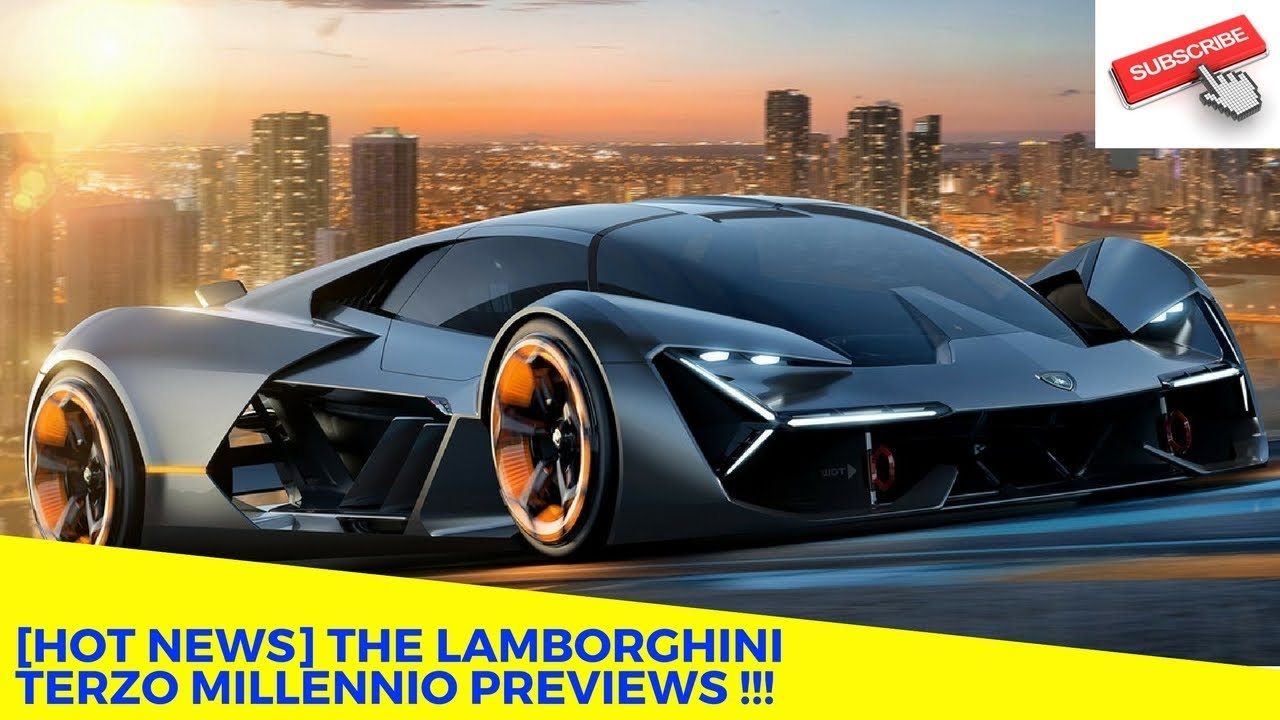 hot news the lamborghini terzo millennio previews youtube. Black Bedroom Furniture Sets. Home Design Ideas