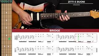 Zitti E Buoni Guitar Cover Måneskin ?|Tabs + Chords| видео