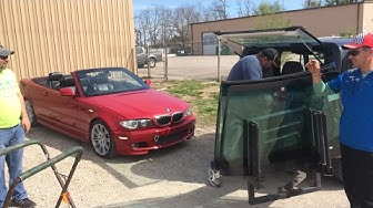 Live BMW e46 project windshield replacement