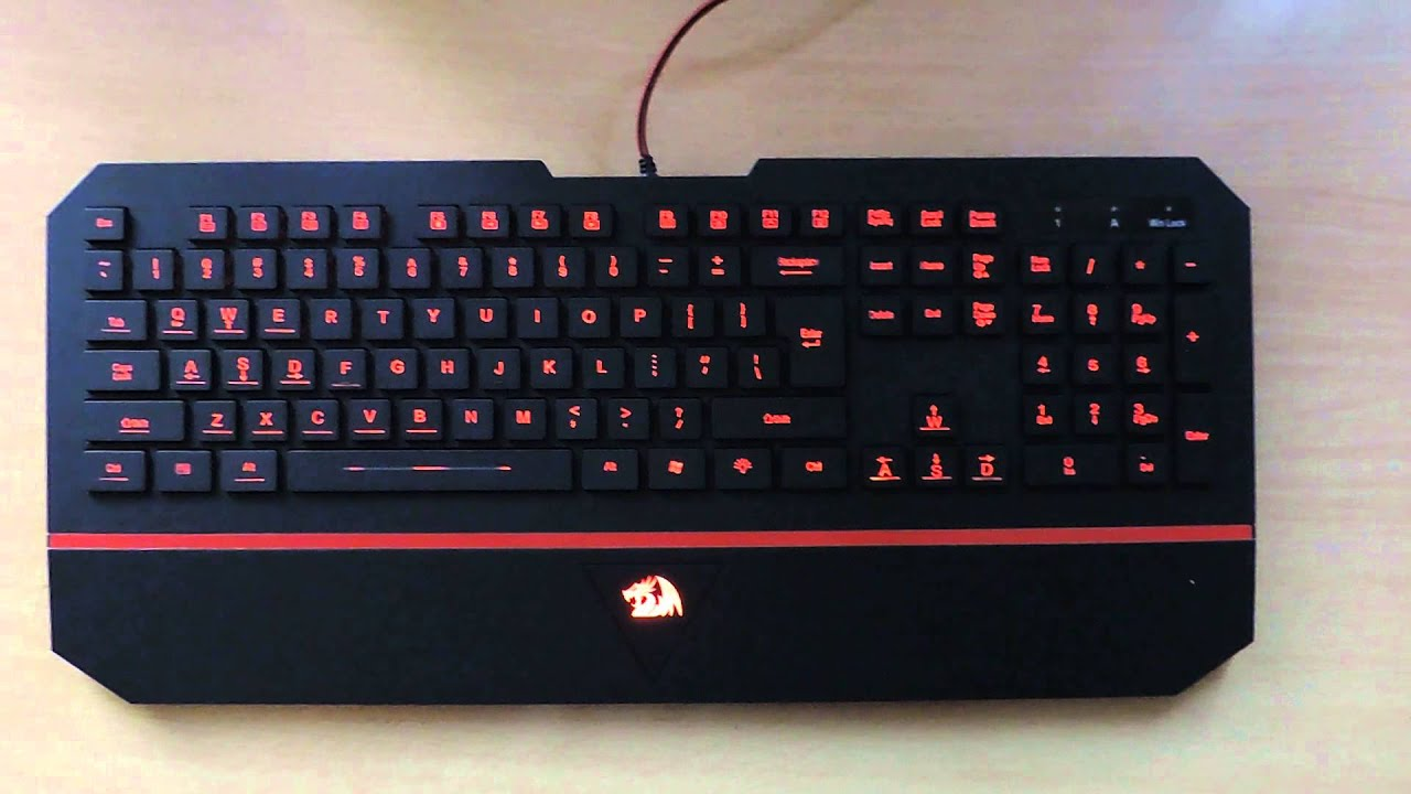 Red Dragon Karura Keyboard Led Colors Youtube