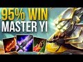 MASTER YI + TARIC STRAT IS BACK - 95% WIN RATE TO D3 | MASTER YI JUNGLE GAMEPLAY | Patch 9.6 S9