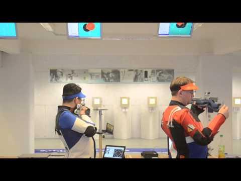 Abhinav Bindra air rifle training at MEC