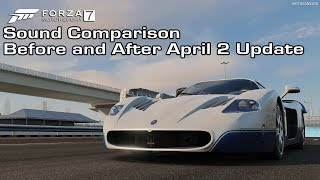 Forza Motorsport 7 - Maserati MC12 Sound Comparison - Before and After April 2 Update