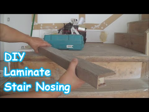 Laminate Stairs Installation  How to Make Stair Nosing Yourself Tips     Laminate Stairs Installation  How to Make Stair Nosing Yourself Tips  Mryoucandoityourself   YouTube