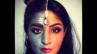 Indian Mytholgy-Shiv Ardhnarishwar inspired makeup tutorial
