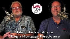 Filing bankruptcy to stop a mortgage foreclosure