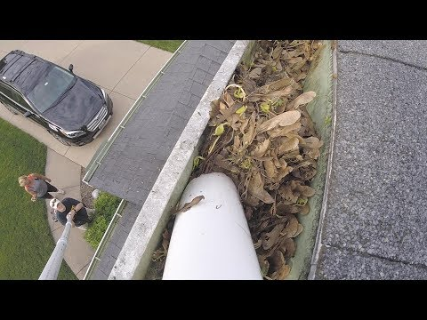 Gutter Sucker: An easy way to clean your gutters without having to climb a ladder