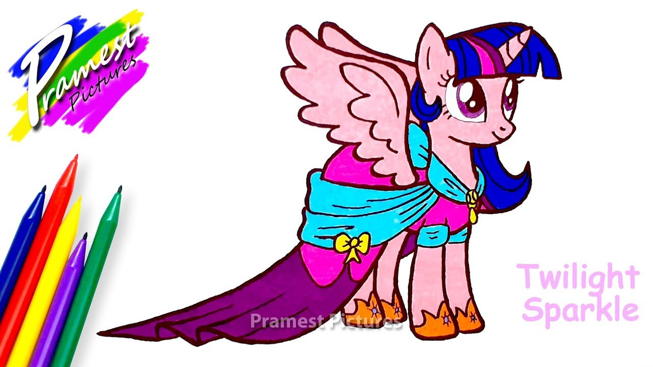 Twilight sparkle my little pony coloring and drawing for kids