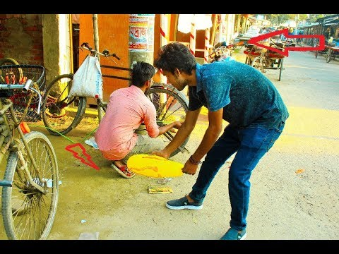 Popping Balloons Prank! PART 3 -REACTION With Tyre Puncture prank !