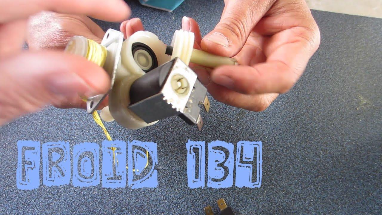 Froid134 l 39 int rieur d 39 une lectrovanne eau de machine for Consommation machine a laver eau