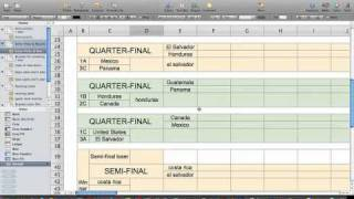 CONCACAF 2011 Gold Cup Office Pool Spreadsheet Bracket Calculator.mov