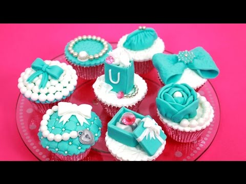 TIFFANY Cupcakes Cake Toppers How To Make by Cakes StepbyStep