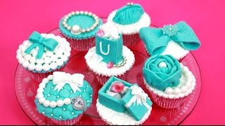 Luxury TIFFANY Cupcakes - How To Make Cake Toppers by CakesStepbyStep