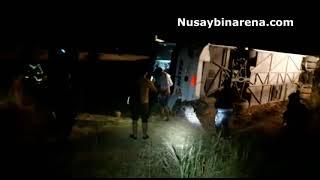 Nusaybin'de otobüs devrildi 10 kişi yaralandı