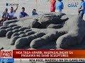 UB: Mga taga-Aparri, nagpagalingan sa paggawa ng sand sculptures