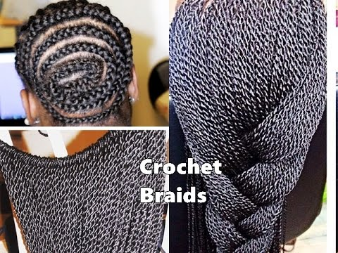 Crochet Braids And Cornrows : HOW TO DO CORNROWS AND CROCHET BRAIDS - YouTube