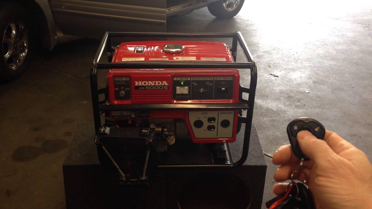 Honda Em Sx Generator With Wireless Remote Start