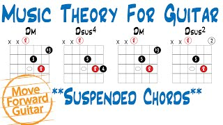 Music Theory for Guitar - Suspended Chords (sus, sus2, sus4)