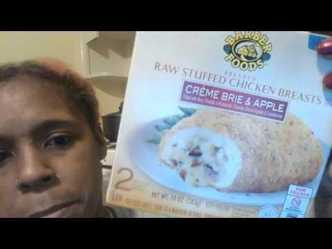 CREME BRIE & APPLE Stuffed Chicken!!! YUMMY!!!