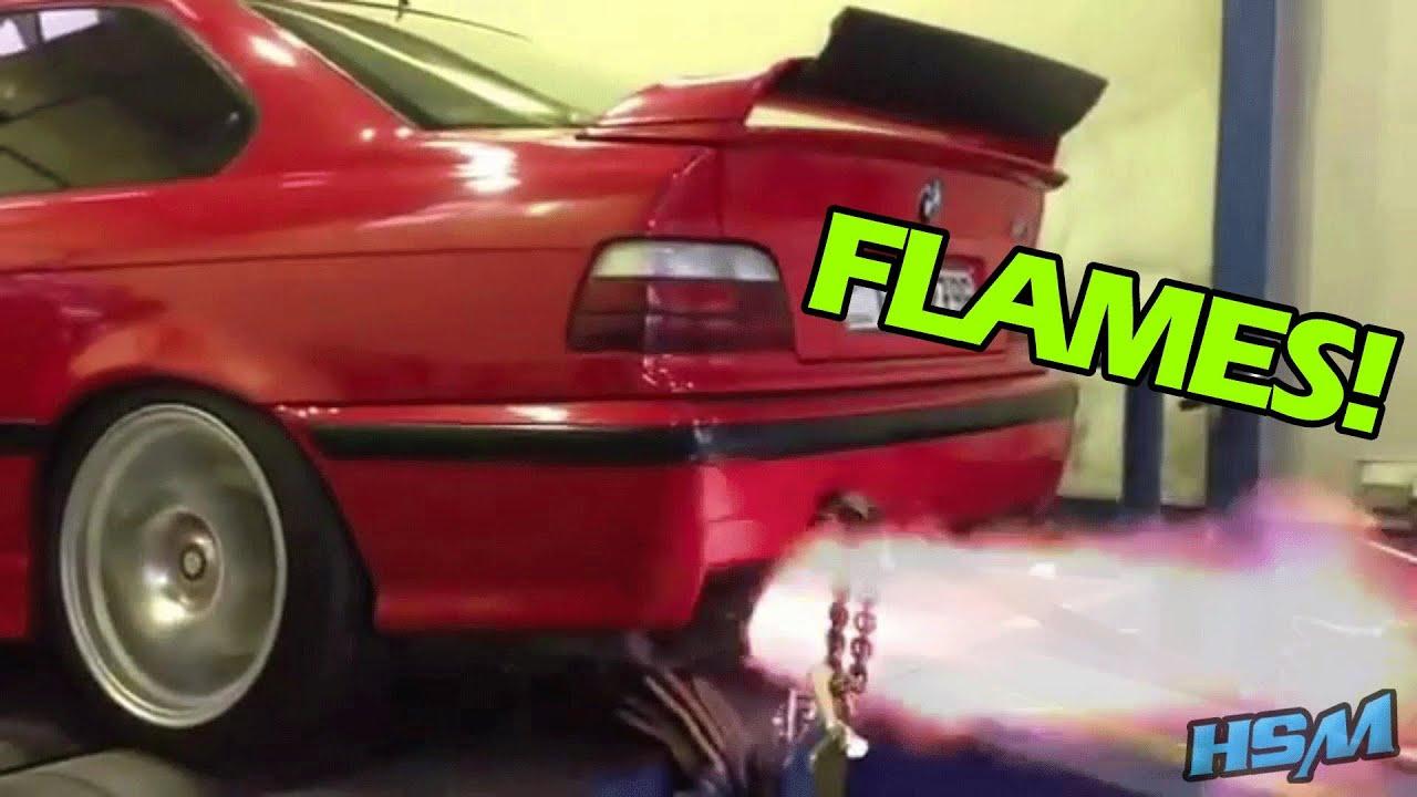 BMW M3 E36 Turbo Anti Lag FLAMES!!   YouTube