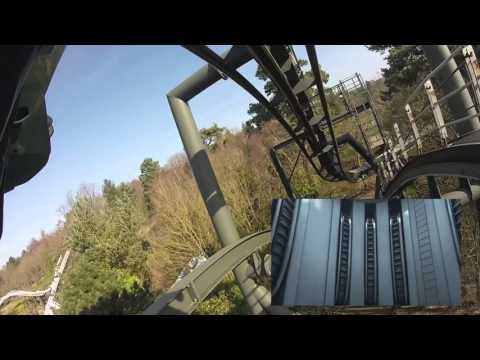 Chris Hadfield rides Galactica - on board ride footage