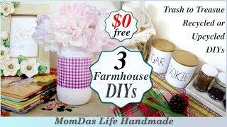 $0 DECORATING CHALLENGE FALL 2018/Useful Farmhouse Rae Dunn style DIY