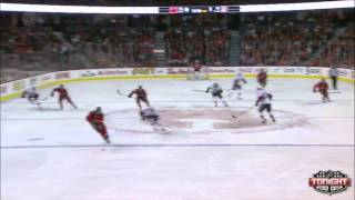 Sven Baertschi  stetch pass to Paul Byron Calgary Flames